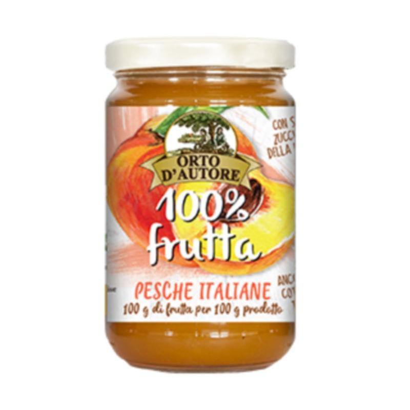 Confettura di pesche 100% frutta Orto d'Autore
