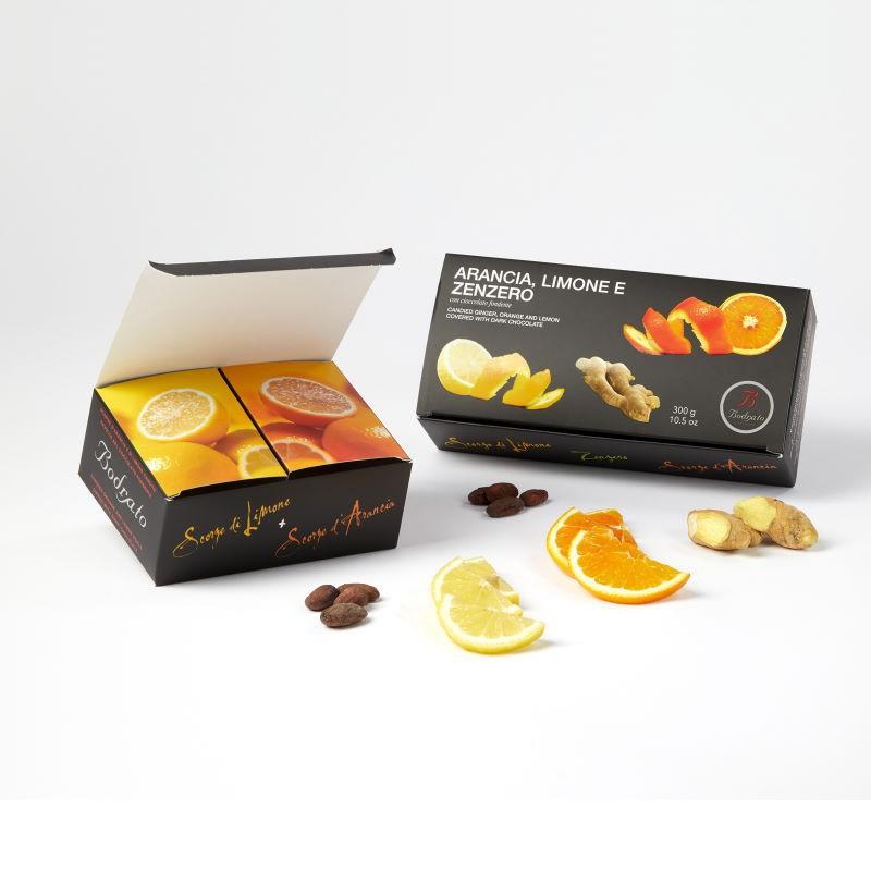 Scorze Arancia Limone e Zenzero Bodrato
