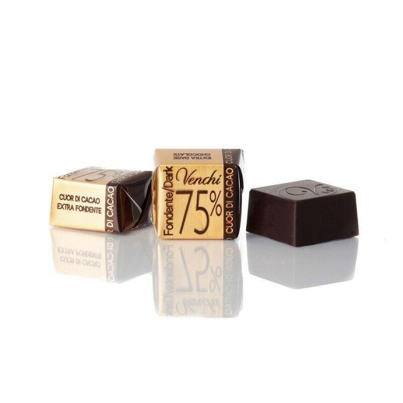 Cioccolatini Cubotto Puro Fondente 75% Venchi