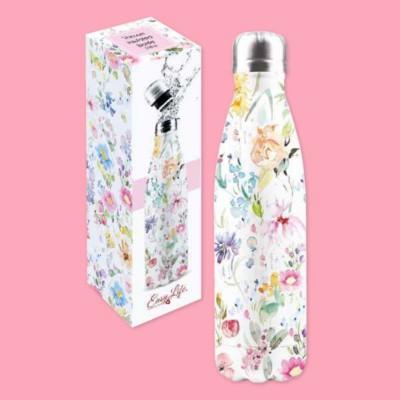 Bottiglia in Acciaio Flower Power Easy Life