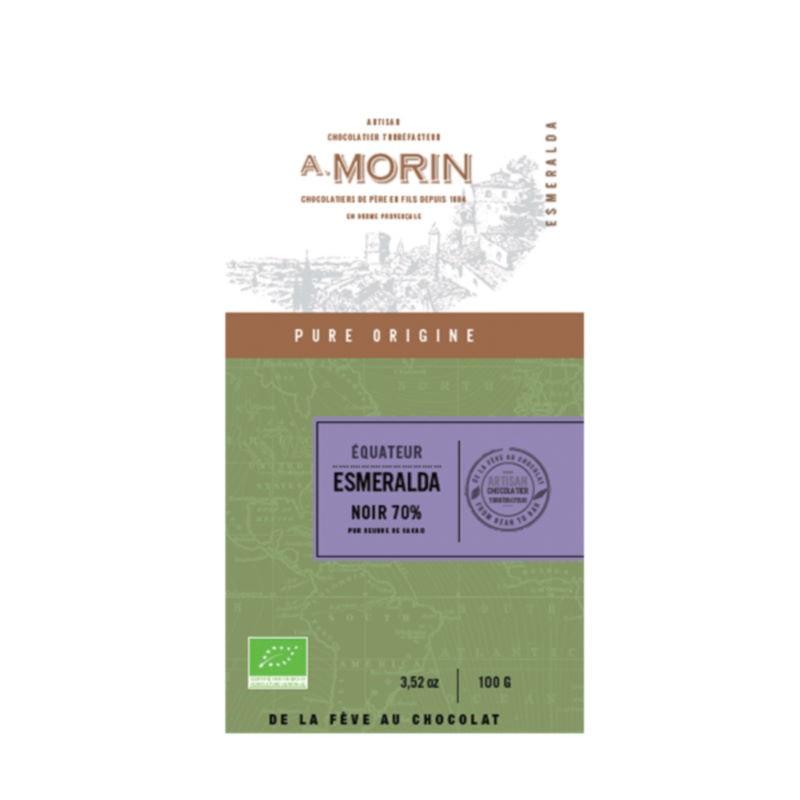 Tavoletta Equateur Esmeralda 70% Morin
