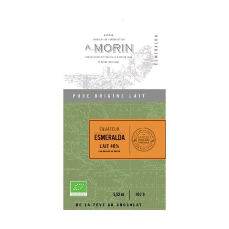 Tavoletta Equateur Esmeralda latte 48% Morin